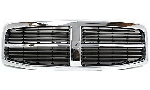 evan-fischer-eva17772021829-grille-for-dodge-durango-04-06-plastic-chrome-shell-painted-black-insert