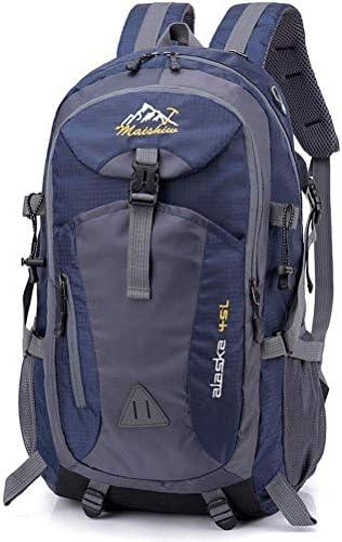 BAJIMI ハイキングバックパック、学生のバックパック、男性女性のための旅行バックパック防水通気性のトレッキングハイキング登山クライミングキャンプリュックサック