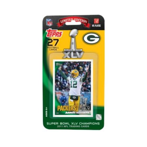 Topps NFL Green Bay Packers 2011 Super Bowl 45 Champions Team Set