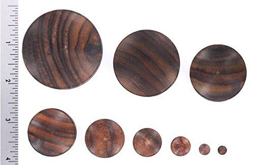 Price Per 1 Organic Body Jewelry 4mm up to 51mm SONO Solid Wood Plug