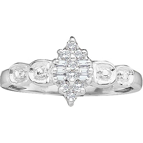 Oval Diamond Cluster Ring - 8