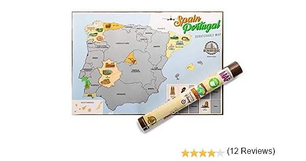 ESPAÑA by Benbridge - Mapa de España para Rascar - ¡Rasca los lugares a los que viajes!: Amazon.es: Hogar