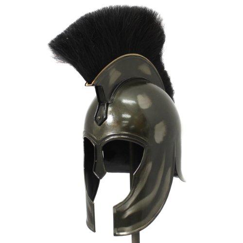 Urban Designs Antique Replica Trojan War Armor Helmet, Dark Grey