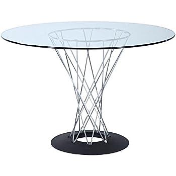 Amazon com - Geneva Contemporary Glass Dining Table - Tables