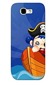 New Arrival Case Cover WgHBhSn2150EbSZU With Design For Galaxy Note 2- Pirate In Need Of Help Best Gift Choice For Lovers