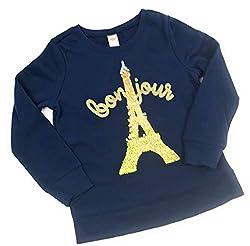Girls Flip Sequin Pullover Sweater