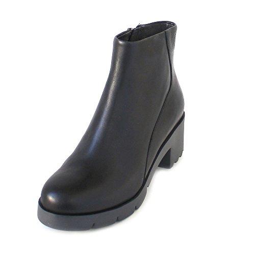 Wanda 400228 Black Womens Leather Camper Boots wqfx74YaAn