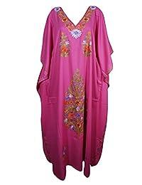 Mogul Womens Caftan Kashmiri Embroiderd Kimono Housdedress Kaftan