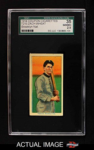 1910 Coupon T213 # 245 BRK Zach Wheat Brooklyn Dodgers (Baseball Card) (Brooklyn Nat. Type 2) SGC 2.5 - GD+
