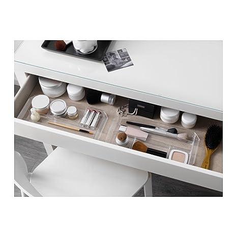 IKEA MALM tocador maquillaje joyas mesa blanco 102.036.10: Amazon ...