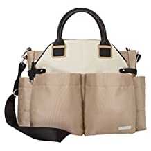 Skip Hop Chelsea Downtown Chic Diaper Satchel, Champagne (Discontinued by Manufacturer)