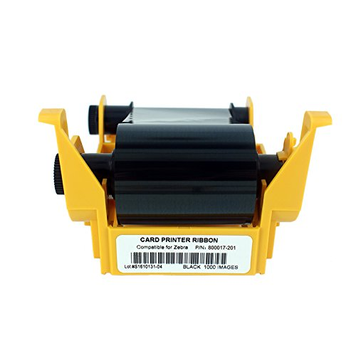 800017-201 True Colors I Series Black Monochrome Cartridge Ribbon For Zebra P110i P120i, 1000 - Color Printer P100i Card