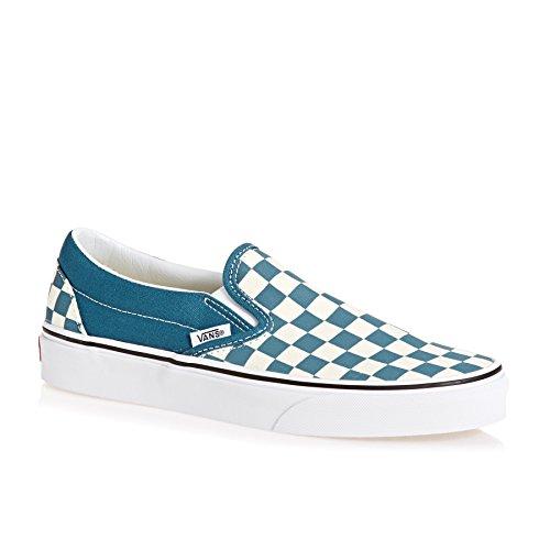 Vans Mens U Clasic Slip ON Corsair True White Size 13 (Vans Men Shoes Blue)