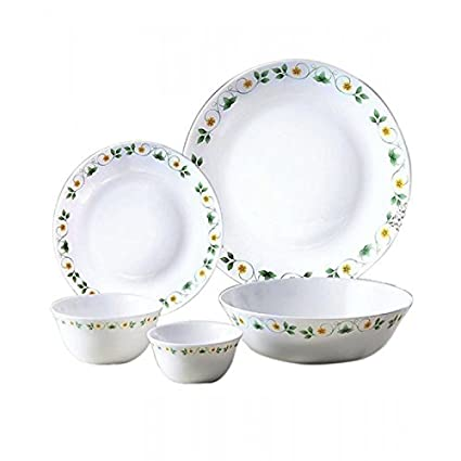 Diva Ivory Amber Willow Dinner Set, 19-Pieces, Multicolour