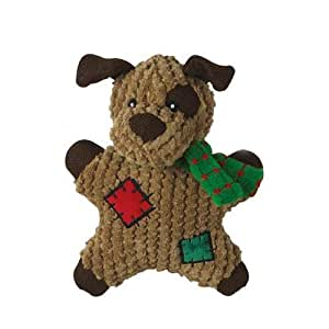Grriggles Polycotton Fabric Dog Gingerbread Squeaky Toy, Dog, 7-Inch