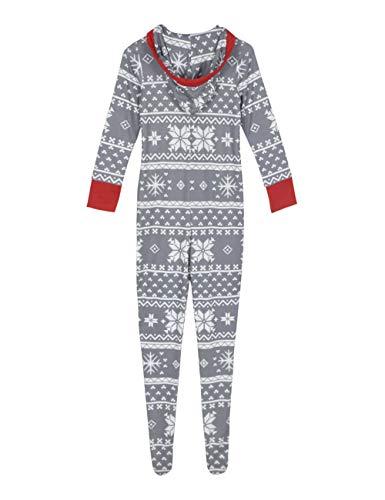 Clothing 1 figlio Set Notte Mom Cappuccio Intera in 2 famiglia con da Lunghezza Home BESBOMIG Padre in Indumenti Natale Stampa Tuta vawa1I