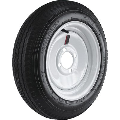 Tool Tire Northern Assembly - 4-Hole High Speed Standard Rim Design Trailer Tire Assembly - 20.5in. x 4.80 x 12