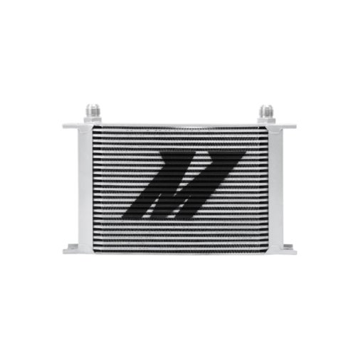 (Mishimoto MMOC-25DP Universal 25 Row Dual Pass Oil Cooler, Silver)