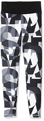 adidas Mädchen Leggings YG W F Tights, Schwarz/Grau/Weiß, 152, 4055344036440