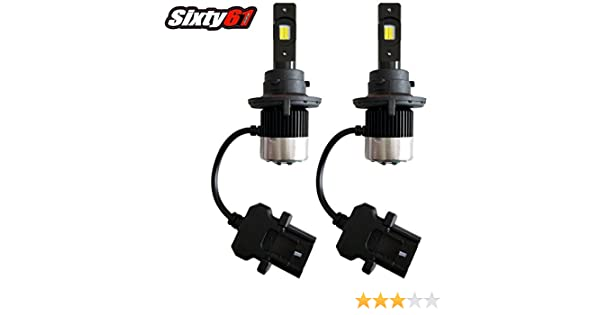 Skidoo Sixty61 LED Headlight Bulbs for Ski Doo MXZ Gen 4 850 600 2017-2020 3000 Lumens