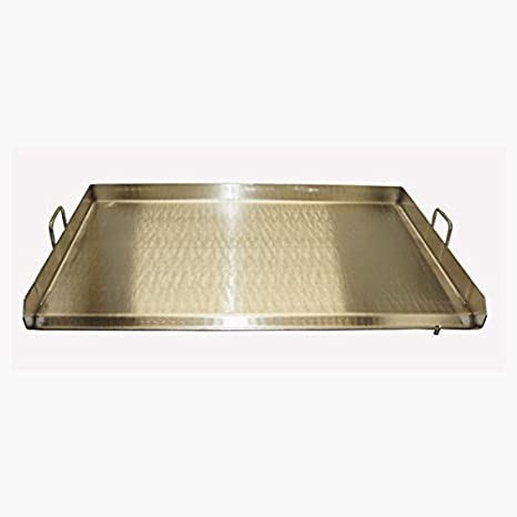 Amazon.com: 32 x 17 Doble quemador Acero Inoxidable Plancha ...