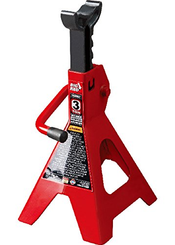 Torin Big Red Steel Jack Stand: 3 Ton Capacity, Single Jack