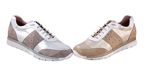 Myltho- 190356 - Zapato Señora Piel Plata