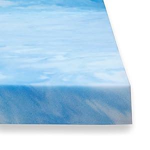 sure2sleep 3 pound high density plush gel memory foam mattress topper made in usa 2inch queen