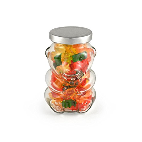 - HARIBO Gummy Bears, Gummy Bear Jar - Silver Lid 24ct/7.5oz