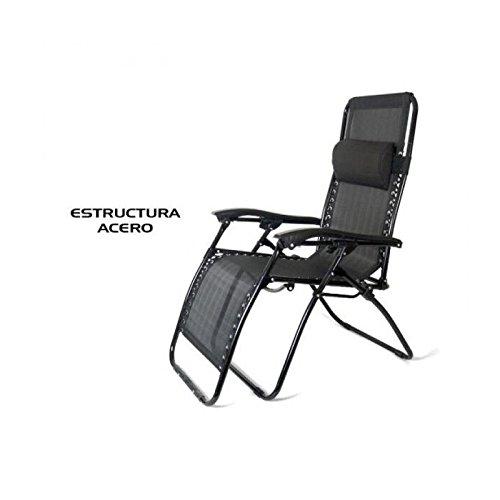 🥇 Gerimport S.L. Tumbona reclinable Negra