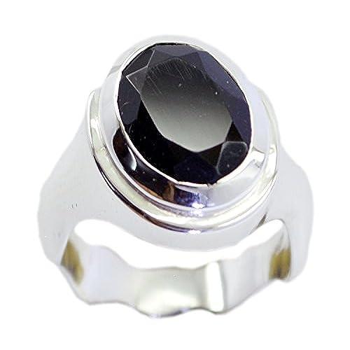3c84f640041b 60% de descuento Anillo de plata de ley de ónix negro natural