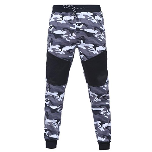 Men Sport Coat,Todaies Men's Autumn Winter Camouflage Sweatshirt+Pants Sets Sports Suit Tracksuit (Black 2, M)