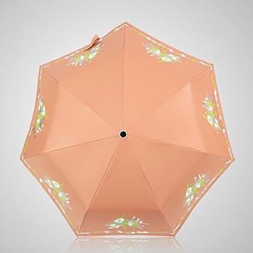 SFSYDDY-Automatico Paraguas De Sol Negro De Cola Proteccion Solar Proteccion UV Sombrilla Ultra-