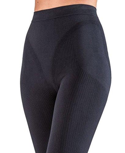 Anti Lungo Pantaloncino Termico Nero Leggings cellulite Snellente Czsalus TAXFxwx