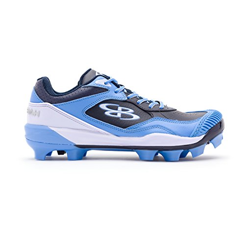 8c9faf69be132 Boombah Women's Endura Pitcher's Toe Molded Cleats Navy/Columbia Blue -  Size 9.5