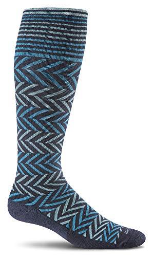 - Sockwell Women's Chevron Graduated Compression Socks, Navy, Medium/Large