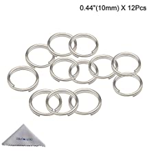 Split Ring, Wisdompro 12 Pack of Small Titanium Alloy Split Rings (Diameter: 10mm)
