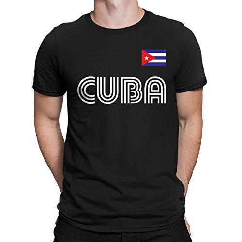 SpiritForged Apparel Cuba Soccer Jersey Men's T-Shirt, Black - Cuba Jersey Baseball