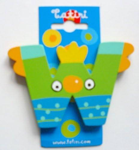 Tatiri 72032 Crazy Bird W Wooden Letter 7 cm
