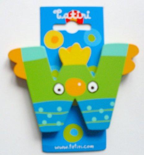 farblich sortiert 7 cm crazy bird Holzbuchstabe A ca