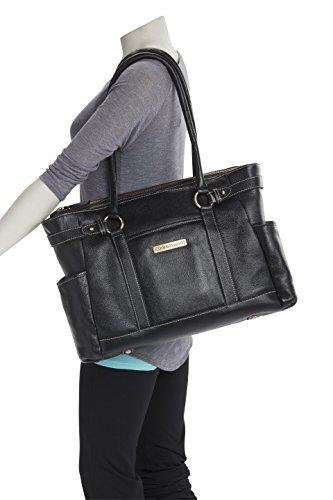 Hawthorne Leather Laptop Handbag 17.3'' (Navy Blue) by Clark & Mayfield (Image #3)
