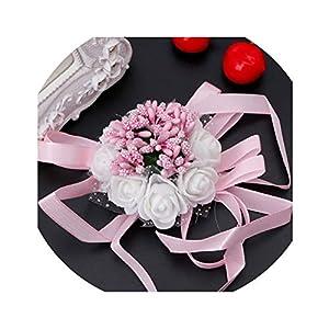 Beautiful Wrist Corsage Bracelet Bridesmaid Sisters Hand Flowers Wedding Party B108-1 81