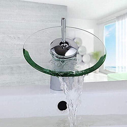 Zxyan 蛇口 立体水栓 バスルームのシンクの蛇口 - 滝クロームCenterset一つの穴/シングルハンドルの一つHoleBathタップ/真鍮防錆 トイレ/キッチン用