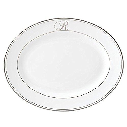 (Lenox Federal Platinum Script Monogram Dinnerware Platter, R)