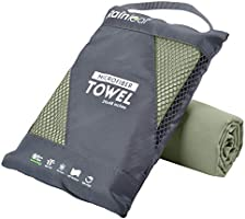 Rainleaf Microfiber Towel Perfect Travel & Sports &Beach Towel. Fast Drying - Super Absorbent - Ultra Compact. Suitable...