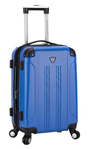 Travelers Club Luggage Chicago 20 Hardside Expandable Carry-on Spinner, Cobalt Blue
