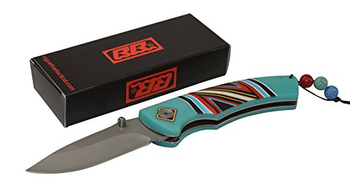 Rogue-River-Tactical-Native-American-Folding-Knife-Turquoise-Red-and-Black-Pocket-Knife