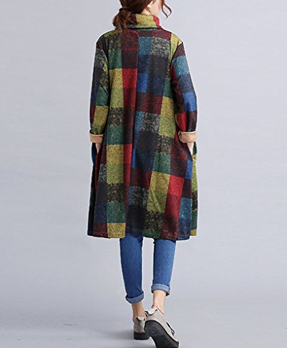 Robe Femme Taille Automne Longue Sweatshirt Manche Pull Jumper Oversize Top Grande Sweat Col Bleu B Hiver Long Unie Tunique Robe Benitier Casual Landove d4WnqwEFw