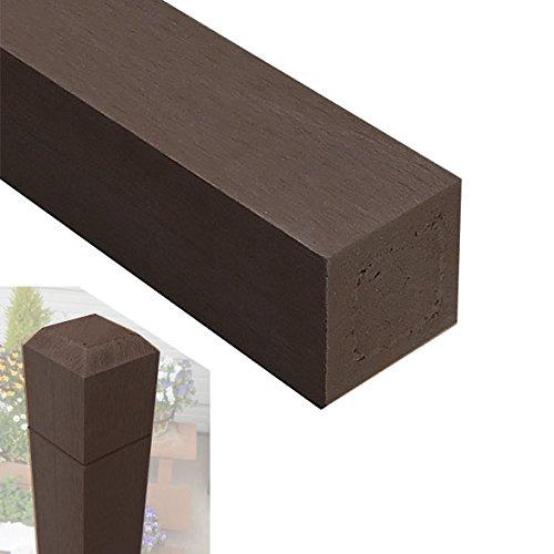 無垢タイプ アイウッド人工木無垢材ラティスポスト H150cm×6cm角4本セット ダークブラウン igarden アイガーデン B0728KW2DG 10800