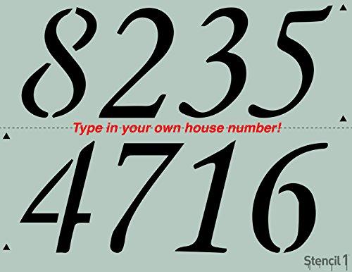 , Address Numbers Stencil 8.5